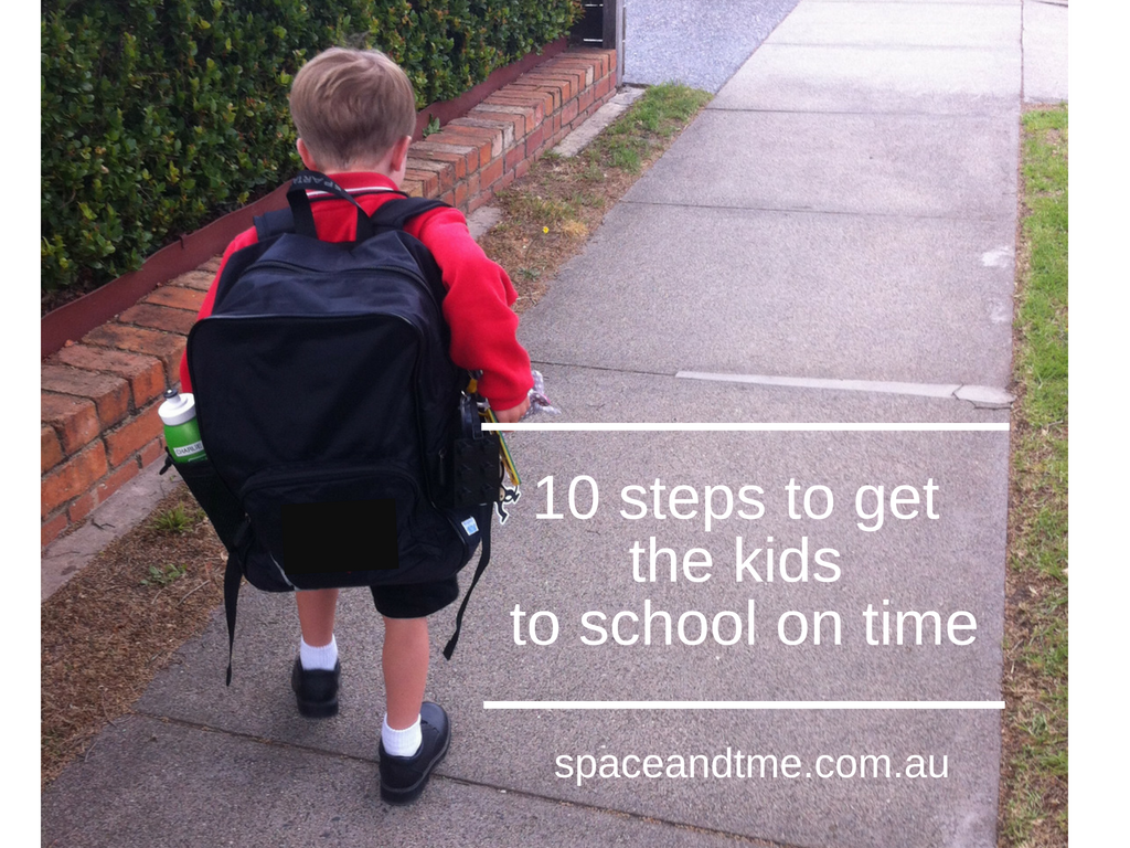 10 steps to get the kids to school on time