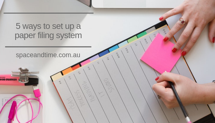 5 ways to set up a paper filing system