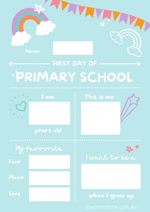 first day of primary school snapshot