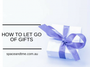 how to let go of gifts