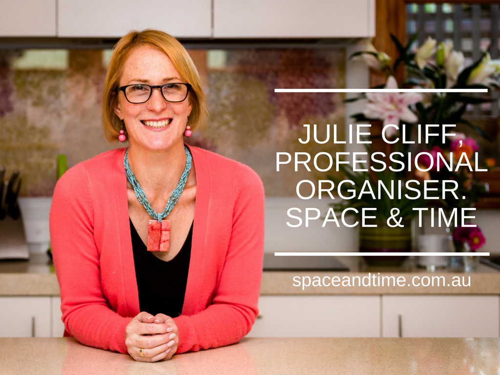 Julie Cliff, Professional Organiser at Space and Time