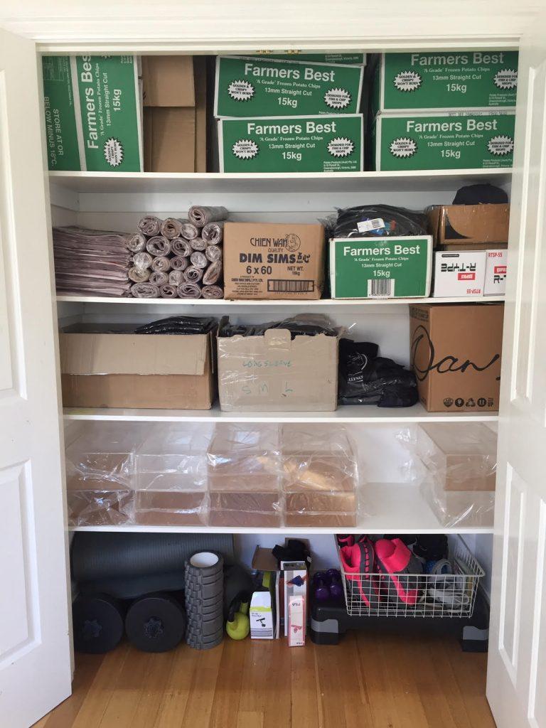Storage cupboard after
