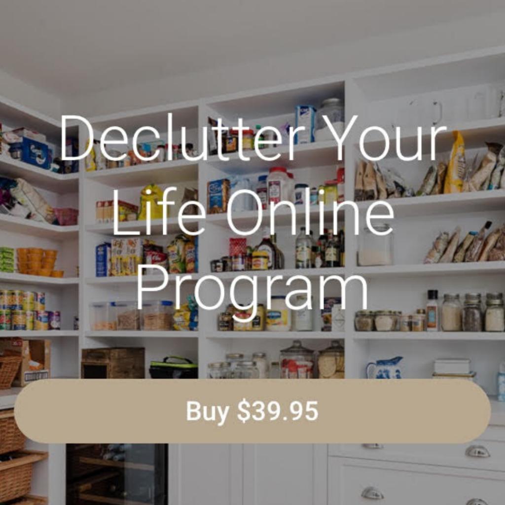 Declutter Your Life Online Program booking button