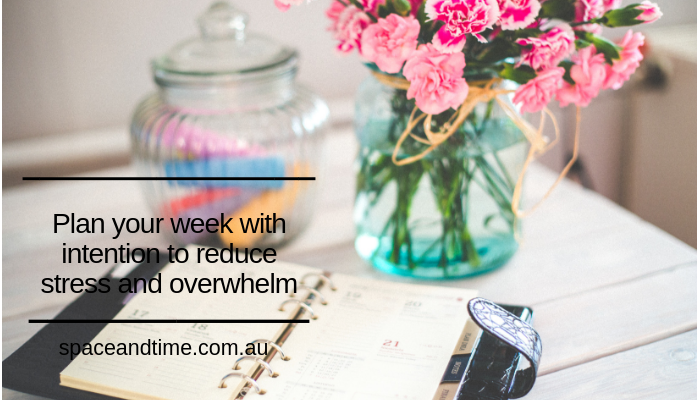 Plan your week with intention
