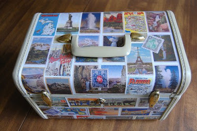 postcard covered travel case