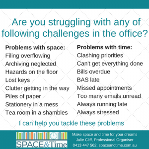 Help to declutter at work