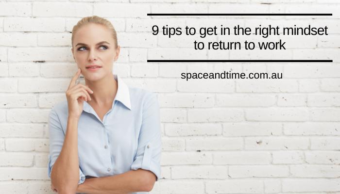 Return to work mindset