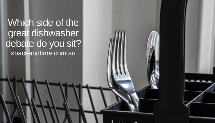 cutlery in dishwasher basket
