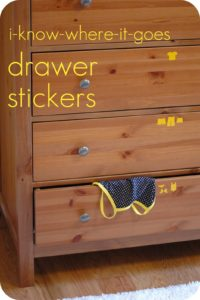 label kids clothes drawers