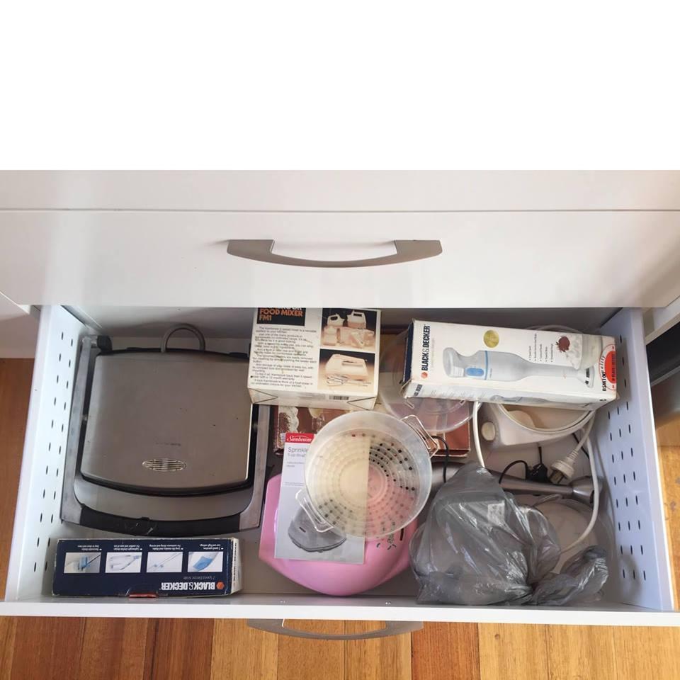 organise appliance drawer
