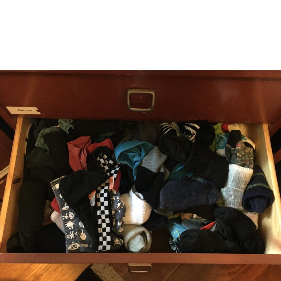 organise sock drawer